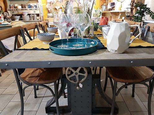 Table salle a manger industriel à Manivelle