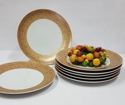6 assiettes plates Daya