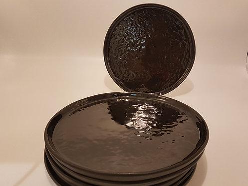 Lot 6Assiettes Noires dessert