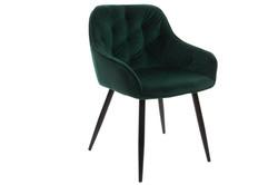chaise velours métal