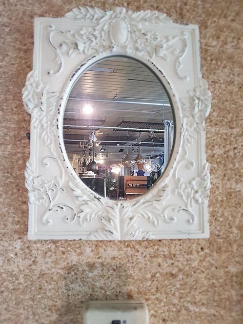 Miroir blanc patiné
