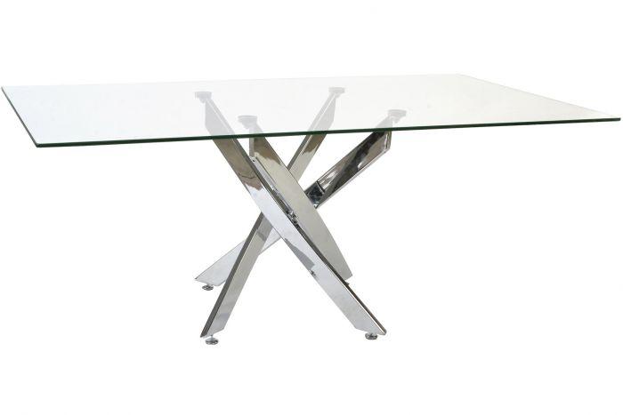 table verre métal 150x90x75.50