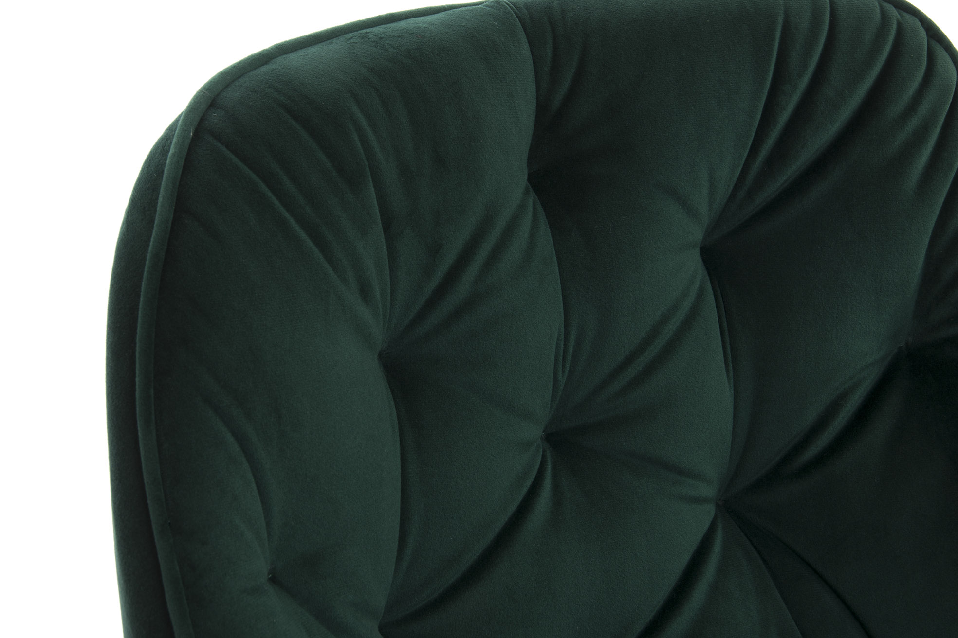 Chaise velours métal 56x62x78