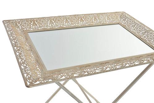 Table Auxiliaire d'appoint fer -Miroir