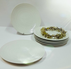 6 assiettes plates Regency