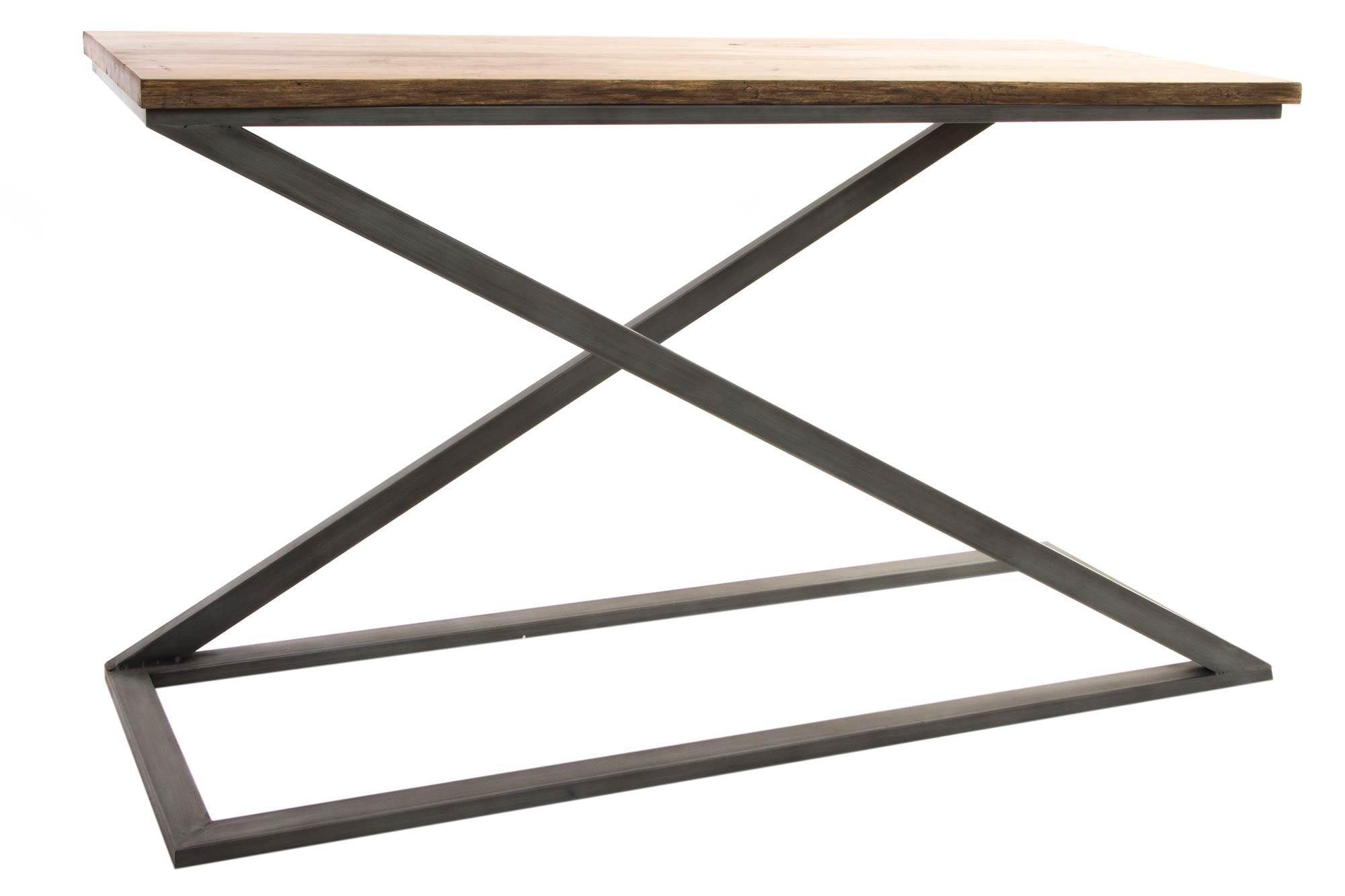 console bois métal 123,5x42,5x76
