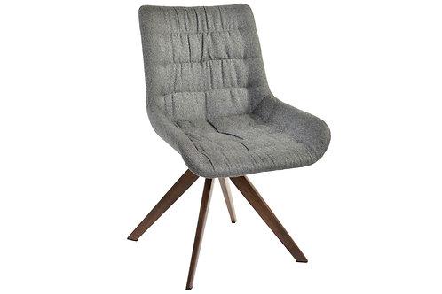 Chaise polyester acier/bois  gris 55x47x89