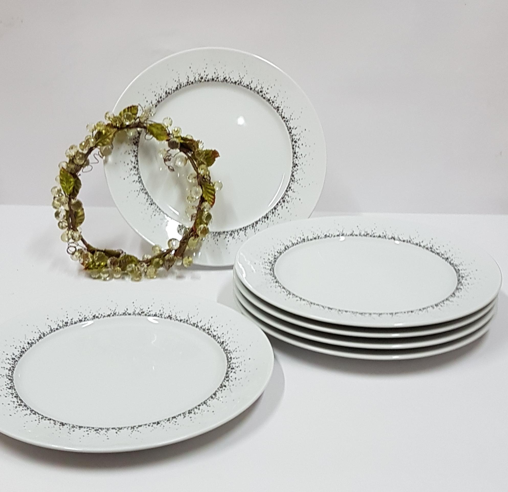 6 assiettes plates Boralis