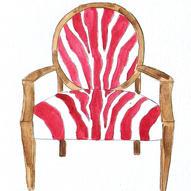 Zebra Chair - Watercolor