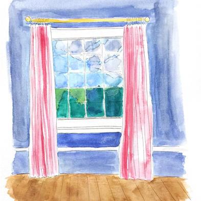 Window View - Watercolor