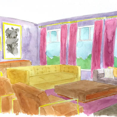 Living Room - Watercolor