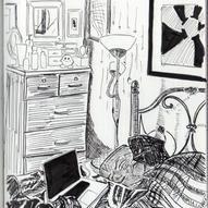 Bedroom Sketch - Pen