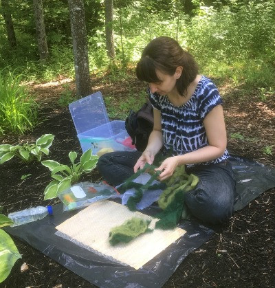 Cat Candow Felting Hosta