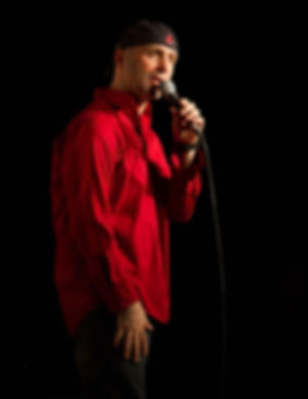 Steve Burr onstage at The Comedy Club in Webster, NY