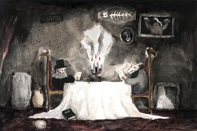 燒焦石碑 Halloween dinner