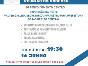 Convite 42ª reunião do Conselho de Desenvolvimento do Centro