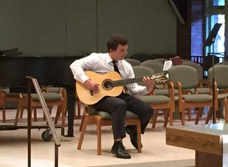 Budding classical guitarist and pianist win 2015 Bennington County Choral Society Scholarships