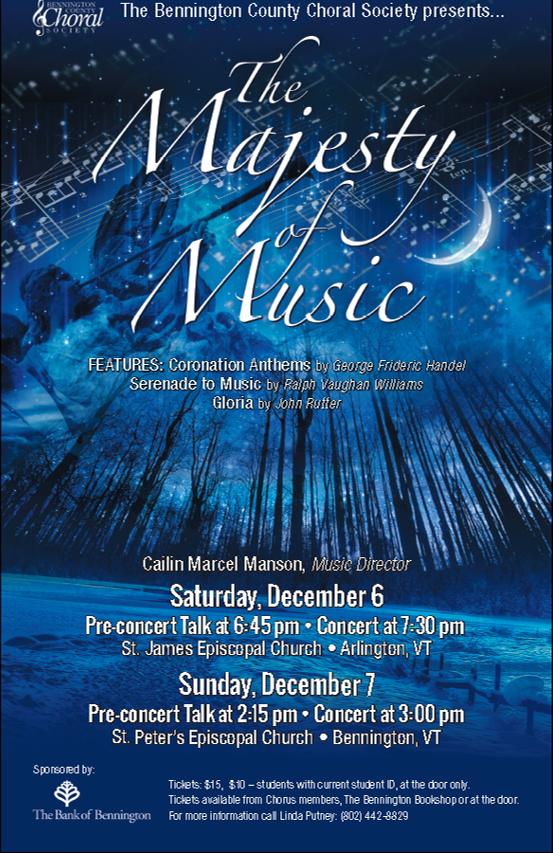 Concert poster, December 2014