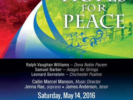 2016 Spring Concert Details