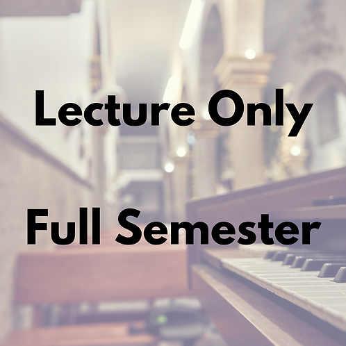 Lecture Series Full Semester