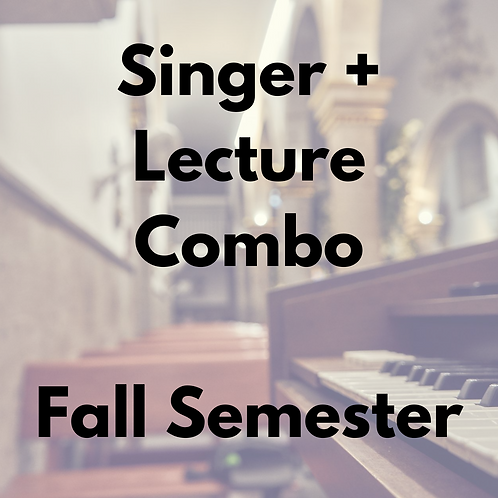 Singer Membership & Lecture Series Combo -- Fall Semester