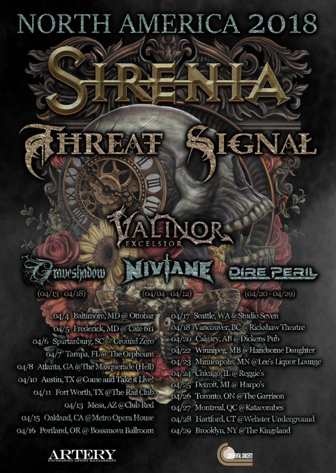 North America Tour - Sirenia