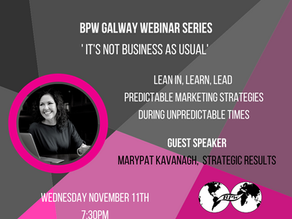 BPW Galway: Webinar Predictable Marketing Strategies During Unpredictable Times