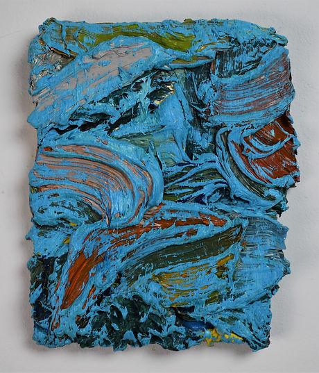 Julia Sossinka, under the surface XV, 2019, oil on canvas, 20 x 17 cm
