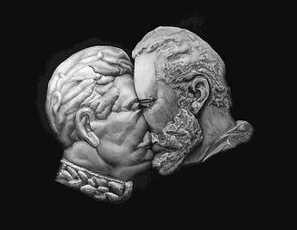 Deadly kiss III (Stalin-Castro) triptych
