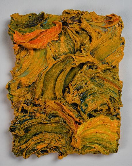 Julia Sossinka, under the surface XIV, 2019, oil on canvas, 20 x 17 cm
