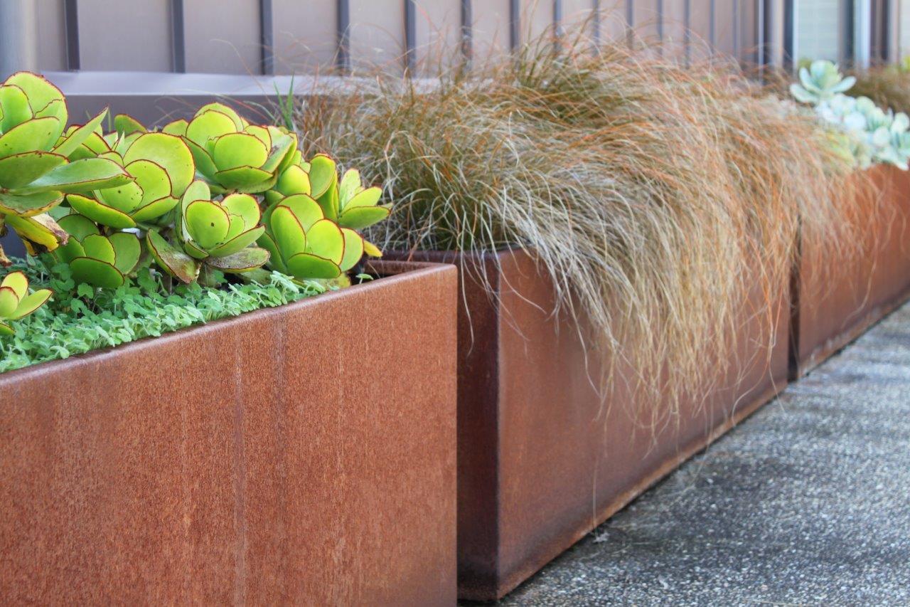 custom corten planters