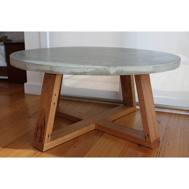 900mm concrete coffee table