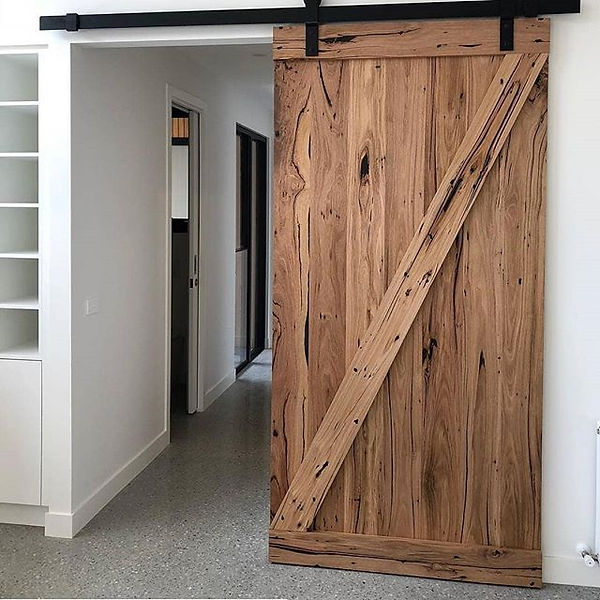 We recently built this barndoor for our