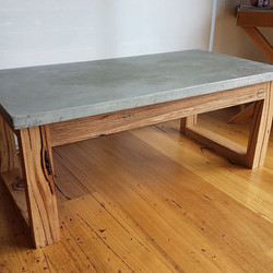 square concrete coffee table