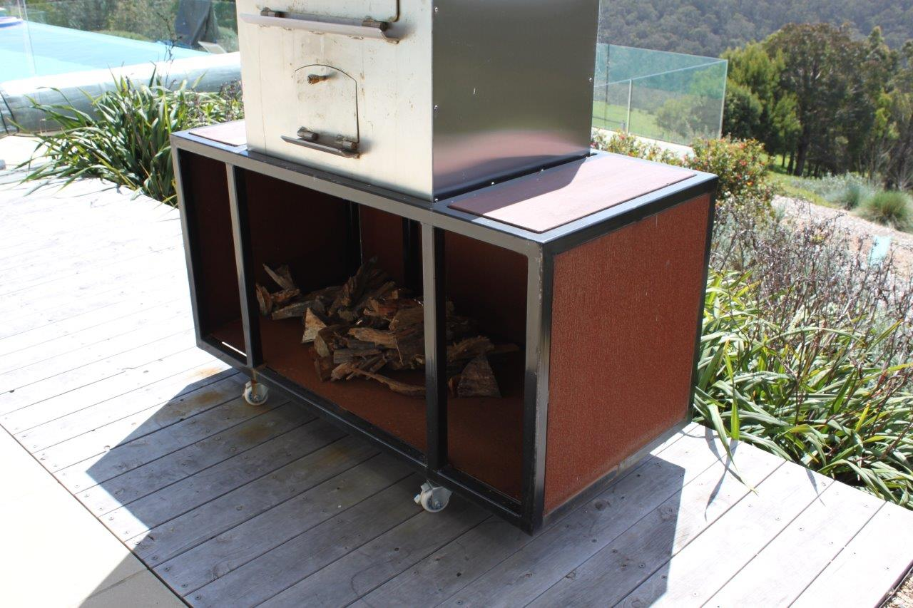 Custom Corten Pizza Oven Base