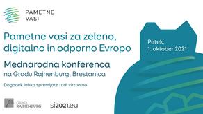 Mednarodna konferenca - Pametne vasi za zeleno, digitalno in odporno Evropo