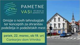 VABILO na omizje Pametne vasi – nove tehnologije ter koncepti za ohranitev podeželja in podeže