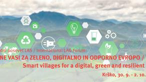 Mednarodni posvet LAS: Pametne vasi za zeleno, digitalno in odporno Evropo, 30. 9. – 2. 10. 2021
