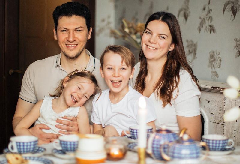 Family having Teatime