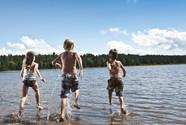 Baignade au lac Taureau