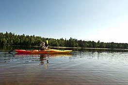 Kayak sur le lac taureau