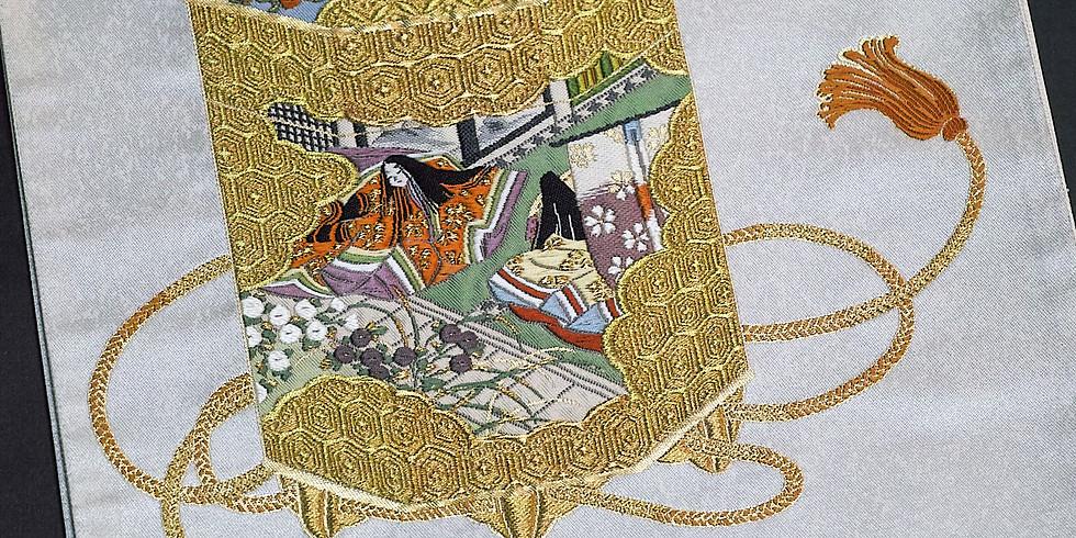 【紫紘の世界Ⅱ】源氏物語錦織絵巻(宿木巻)、紫紘・野中彩加さんによるギャラリートーク