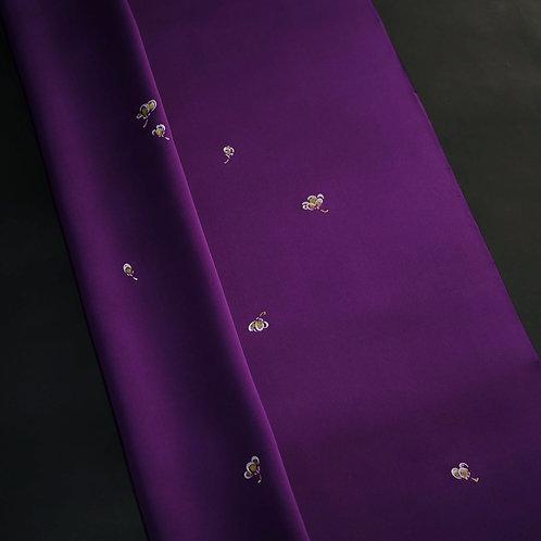 付下|京紫地 うたし糊 こぼれ梅