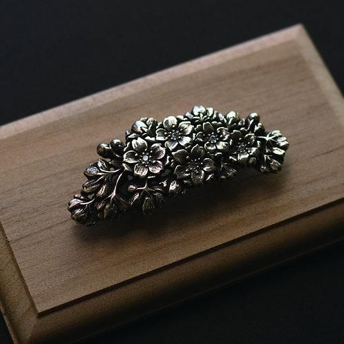 帯留 | 「古都」 彫金 銀細工
