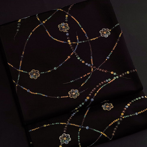 袋帯 | 紫紘 正倉院宝物宝玉繋ぎ