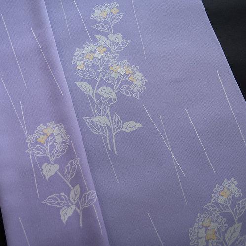 付下 天の川 村雨に紫陽花