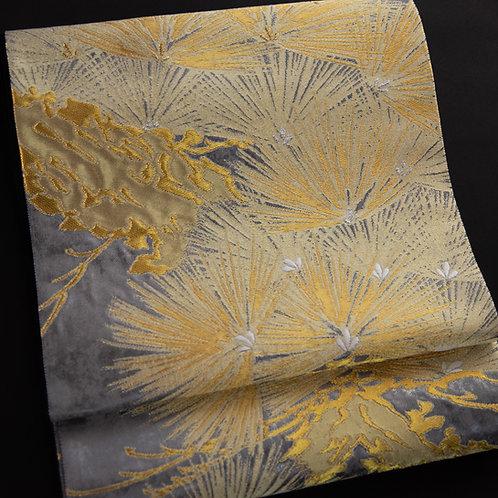 袋帯 | 紫紘 松文