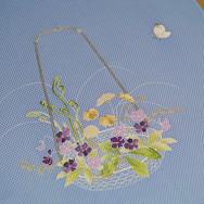 こちらはスプリングさん向けの、春草の花籠です。_早蕨や土筆を入れて、新春から4月