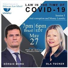 Ola Tucker, Sergio Moro, Webinar on Anti-Corruption and Covid-19, Delaware Law School and UNIVALI Brasil