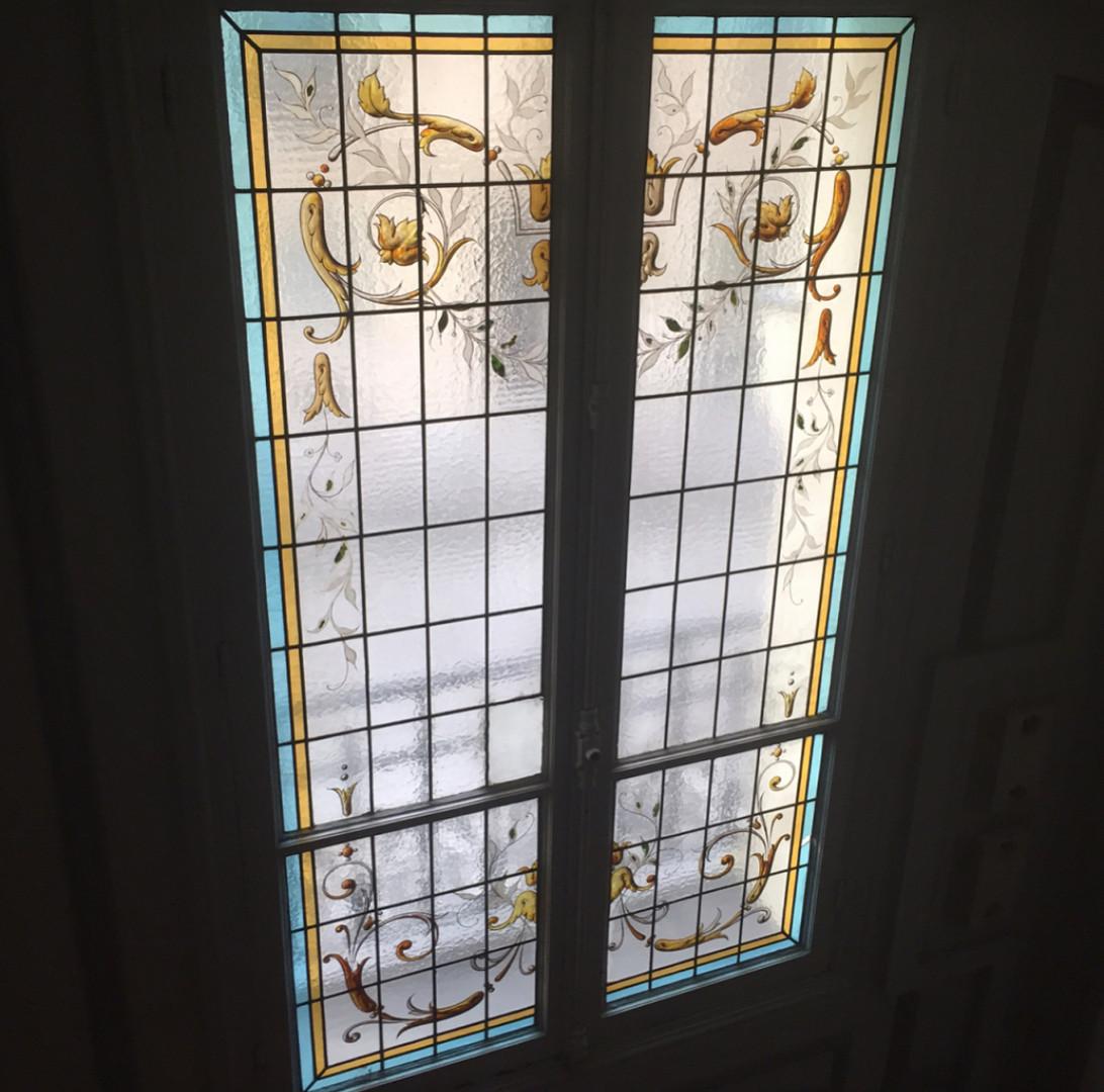 Restauration vitrail peint XIXème s.
